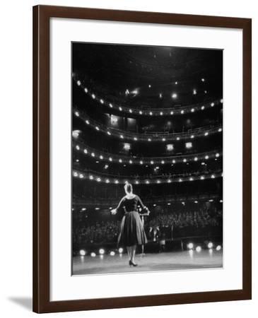 Metropolitan Opera Auditions-Walter Sanders-Framed Photographic Print