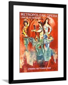 Metropolitan Opera Opening, September 1966-Marc Chagall-Framed Giclee Print