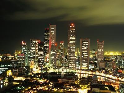 Metropolitan Singapore at Night--Photographic Print