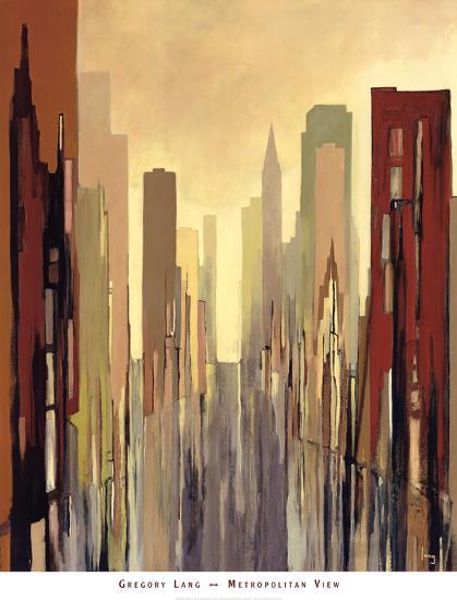 Metropolitan View-Gregory Lang-Art Print