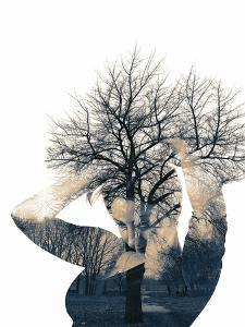 Collage of the Woman and Tree by metrs