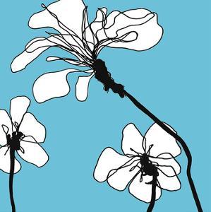 Flowers in Blue 1 by Mette Loeber