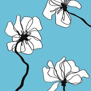 Flowers in Blue 2 by Mette Loeber