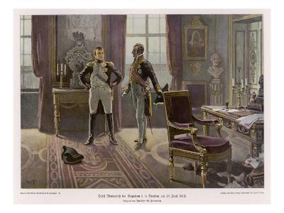 Metternich and Napoleon Confer at Dresden--Giclee Print