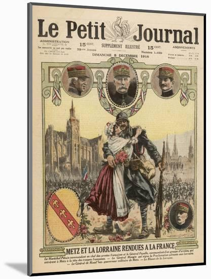 Metz Returns to France--Mounted Giclee Print