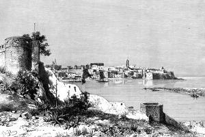 Rabat and the Mouth of the Bu-Regrag River, Morocco, 1895 by Meunier