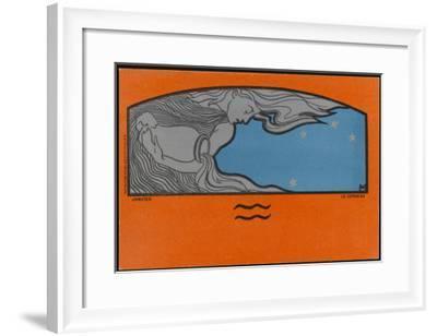 Meunier Zodiac Aquarius--Framed Giclee Print