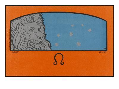 Meunier Zodiac Leo--Giclee Print