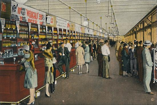 Mexicali Beer Hall, The Longest Bar in the World, c1939-Unknown-Giclee Print