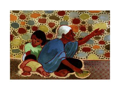 Mexican Beggar Family-John Newcomb-Giclee Print