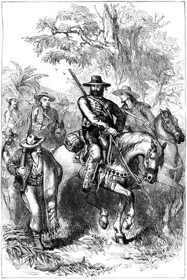 Mexican Filibusters on the March, Mid 19th Century--Giclee Print