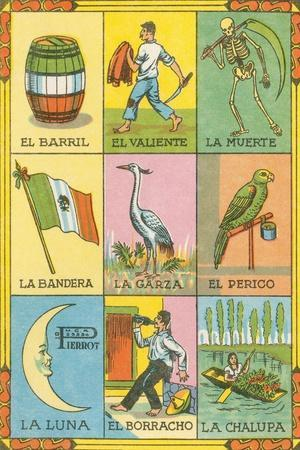 image about Free Printable Loteria Cards titled Mexican Loteria Playing cards Artwork Print by means of