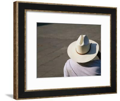 Mexican Man Wearing a Cowboy Hat-Gina Martin-Framed Photographic Print