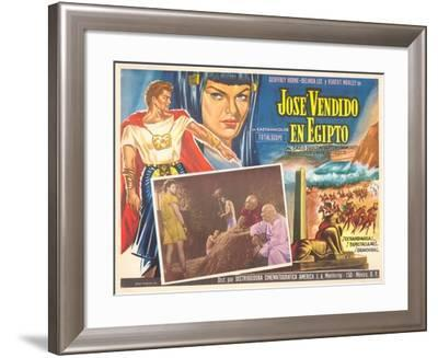Mexican Movie Poster for Joseph and His Brethren--Framed Art Print