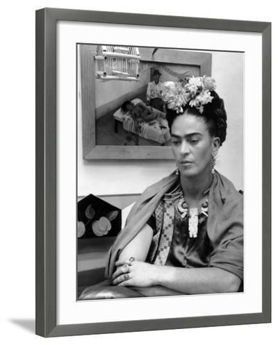 Mexican Painter Frida Kahlo (1907-1954) 1948--Framed Photographic Print