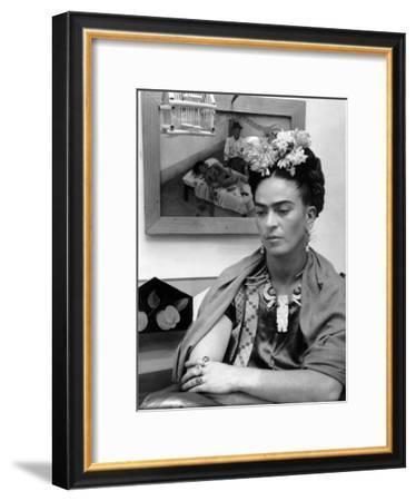 Mexican Painter Frida Kahlo (1907-1954) 1948--Framed Photo