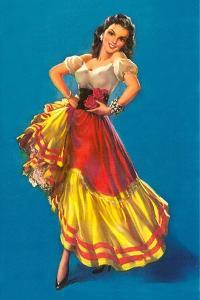 Mexican Senorita Dancing