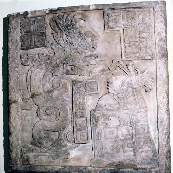 Mexican Serpent, God and Priest, Pre-Columbian, Maya Culture, 770-Unknown-Giclee Print
