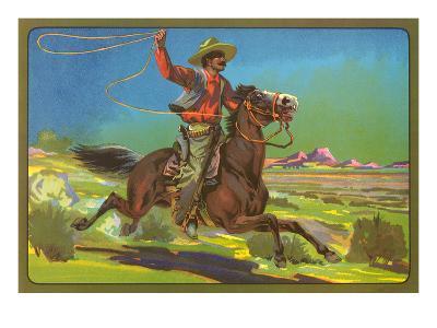 Mexican Vaquero with Lasso--Art Print