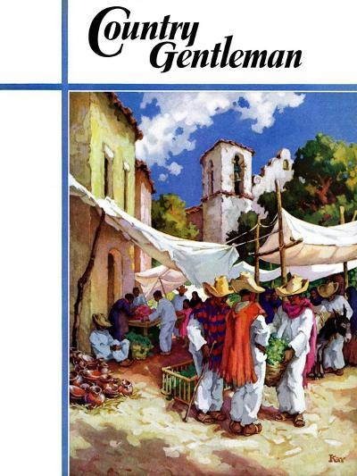 """""""Mexican Village Market,"""" Country Gentleman Cover, June 1, 1938-G. Kay-Giclee Print"""