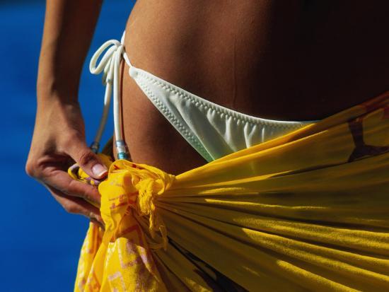 Mexican Woman with Swimwear-Mitch Diamond-Photographic Print
