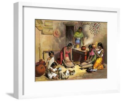 Mexican Women Making Tortillas, 1800s
