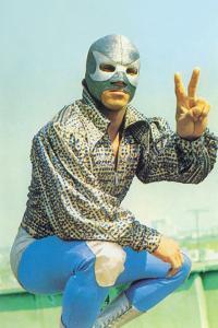 Mexican Wrestler in Lounge Singer Shirt