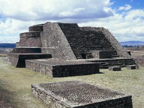 Mexico, Aztec Archaeological Site of Calixtlahuaca, Temple of Quetzalcoatl--Giclee Print