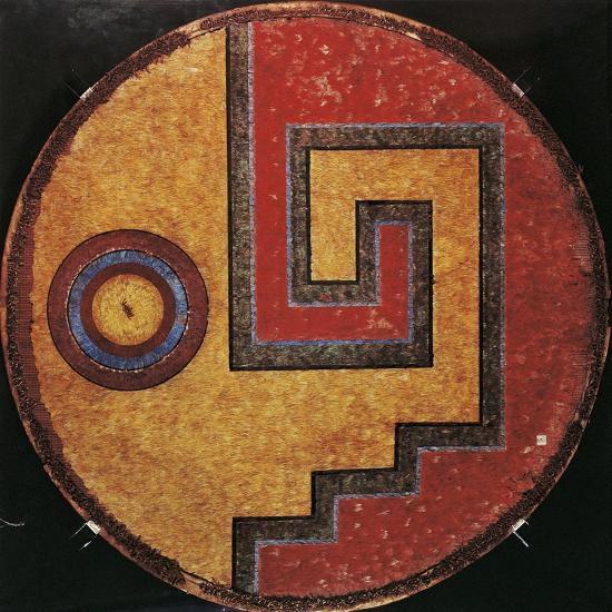1bc99ba7edcd7 Mexico, Aztec Civilization, Feather Shield with Linear Meander Design  Incorporating Eye Motifs Giclee Print by   Art.com