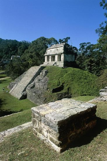 Mexico, Chiapas, Palenque, Mayan Archaeological Site, Temple of Count--Giclee Print