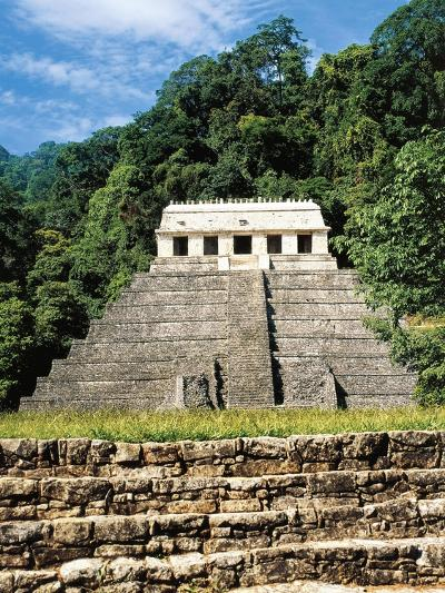 Mexico, Chiapas, Palenque, Temple of Inscriptions at Mayan Archaeological Site--Giclee Print