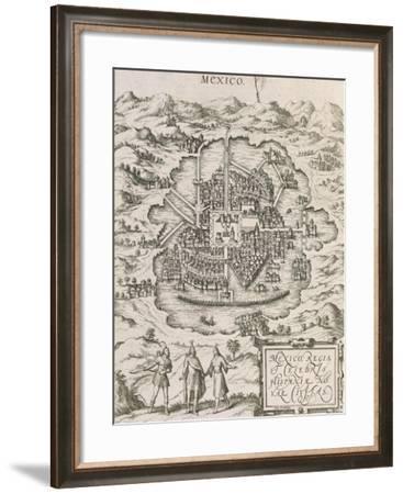Mexico City from Civitates Orbis Terrarum--Framed Giclee Print