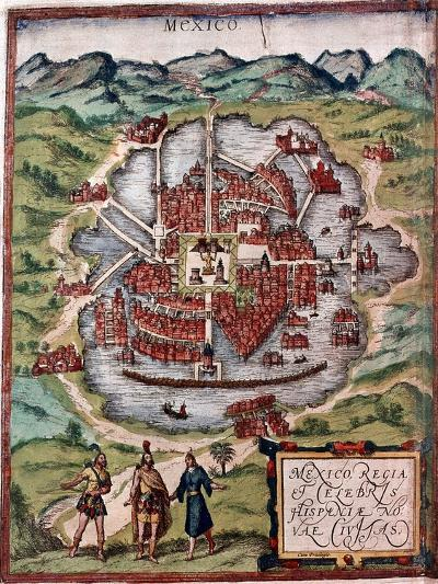 Mexico City in the Early 16th Century-Hernando Cortes-Giclee Print