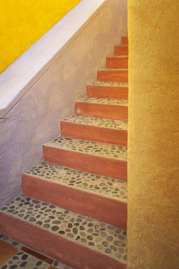 Mexico, Costalegre. Colorful stone stairs.-Jaynes Gallery-Photographic Print