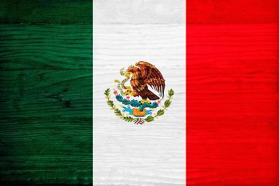 Mexico Flag Design with Wood Patterning - Flags of the World Series-Philippe Hugonnard-Art Print