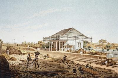 Mexico, La Soledad Rail Station in Veracruz, 1878--Giclee Print