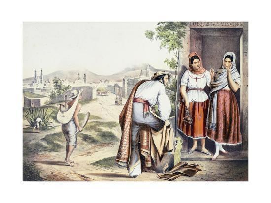 Mexico, Las Poblanas, People of Puebla, in Folk Costumes--Giclee Print