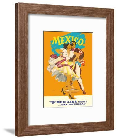 Mexico - Mexicana Airlines (CMA) - Affiliate of Pan American-Wright-Framed Art Print