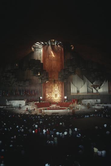 Mexico, Mexico City, Religious Celebration in Basilica of Our Lady of Guadalupe--Giclee Print