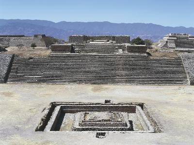 Mexico, Oaxaca State, Building H in Gran Plaza at Monte Alban Archaeological Site--Giclee Print