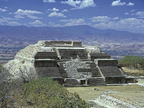 Mexico, Oaxaca State, Monte Alban Archaeological Site , Zapotec Civilization, Building M--Giclee Print