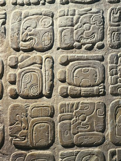 Mexico - Palenque Archaeological Site - Stone with Non-Coded Hieroglyphics--Giclee Print