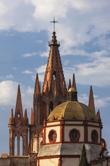 Mexico, San Miguel De Allende. Cathedral of San Miguel Archangel-Brenda Tharp-Photographic Print