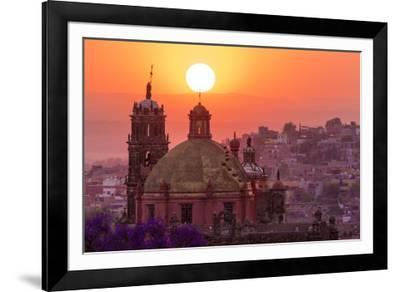 Mexico, San Miguel De Allende. City Overview at Sunset-Jaynes Gallery-Framed Photographic Print