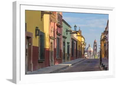 Mexico, San Miguel De Allende. Street Scene-Jaynes Gallery-Framed Photographic Print