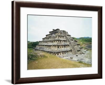 Mexico, Veracruz State, El Tajin Archaeological Site, Pyramid of Niches, Totonac Civilization--Framed Giclee Print