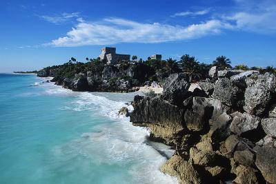Mexico, Yucatan Peninsula, Carribean Sea at Tulum, the Only Mayan Ruin by Sea-Chris Cheadle-Photographic Print