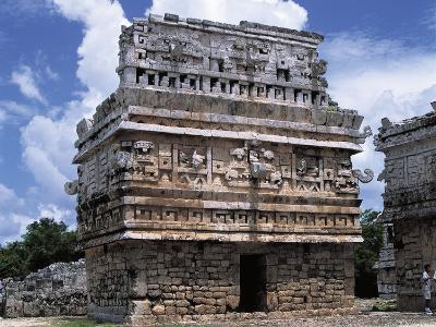 Mexico, Yucatan State, Chichen Itza, Maya-Toltec Archaeological Site, Complex of Las Monjas--Photographic Print