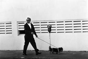 Meyer Lansky Walking Bruzzer on Miami Beach, 1979