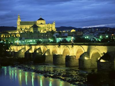 Mezquita (Cathedral) and Puente Romano (Roman Bridge), Cordoba, Andalucia (Andalusia), Spain-Colin Brynn-Photographic Print